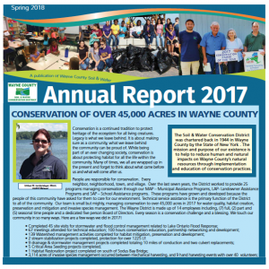 Annual Report on Conservation across Wayne County