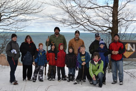 Boyscouts Winter Hike