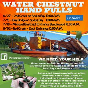 2018 Water Chestnut Hand Pull dates